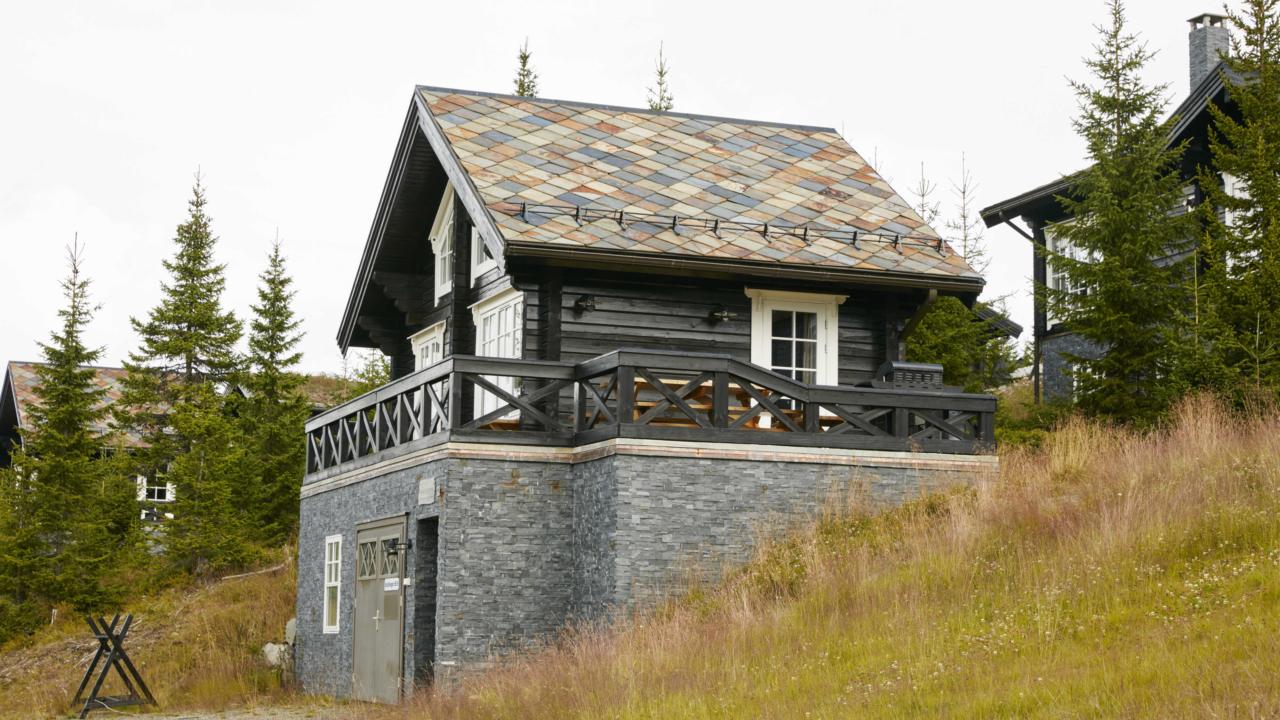 Anneks fasade på Mosetertoppen Panorama