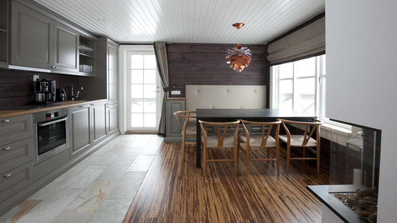 Kjøkken i anneks på Mosetertoppen Panorama